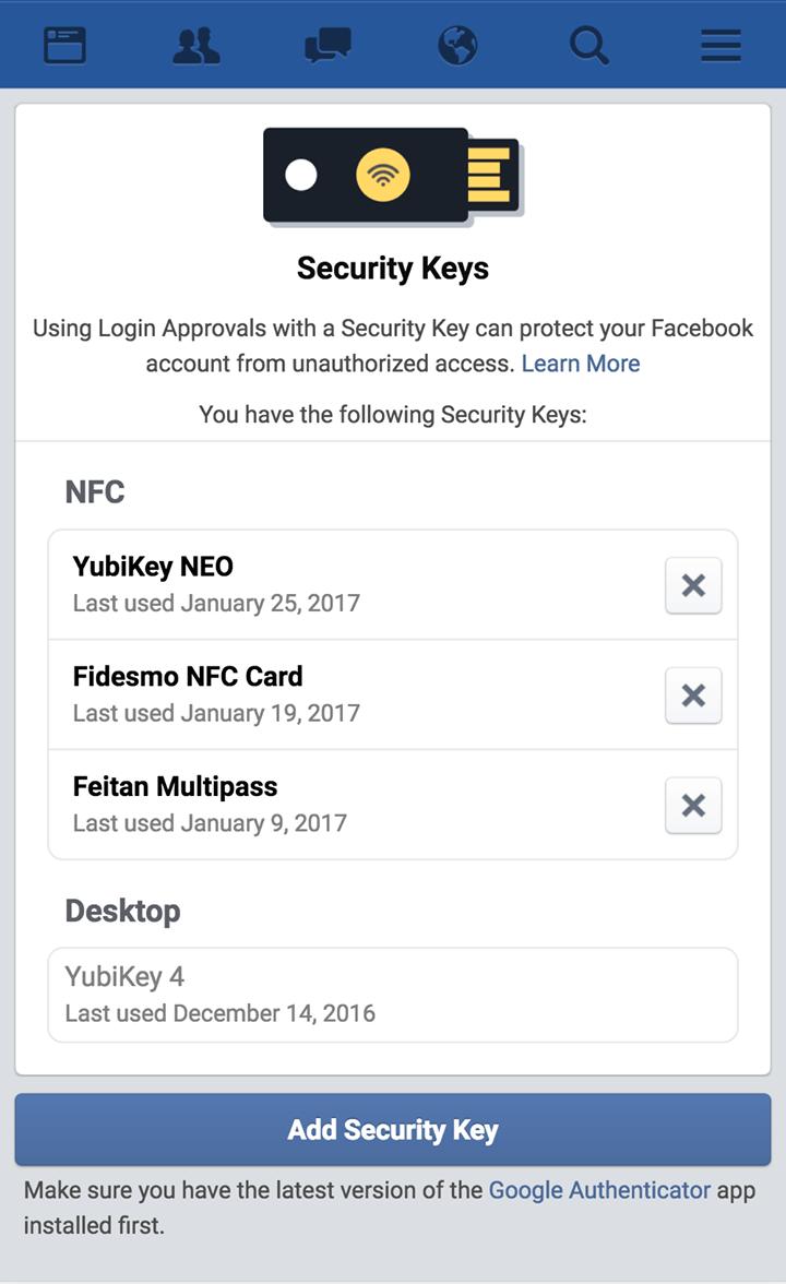 Facebook U2F
