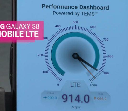 Samsung Galaxy S8 1 Gbps