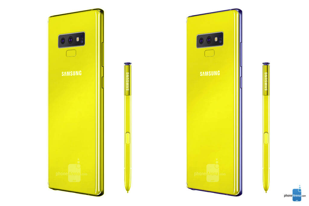 Yellow? Galaxy Note 9 will be presented on August 9 - Ping